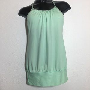 Lululemon Mint Green No Limits Tank/Bra Combo